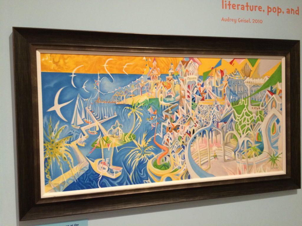 サンディエゴ史博物館で展示されていたDr. Seussの作品で、サンディエゴを描いたもの。
